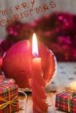 Décorations et cadeaux de Noël Photo stock