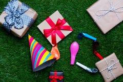 Décorations et cadeaux de partie Images stock