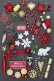Décorations et ornements de Noël Photos libres de droits