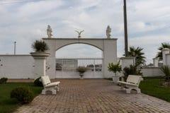 Décorations et sculptures de jardin photo stock