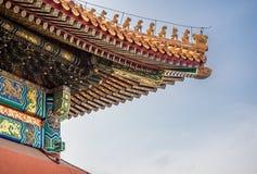 Décorations impériales chinoises de toit Photographie stock
