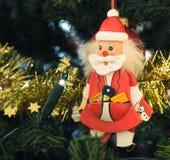Décorations le père noël de Noël images libres de droits