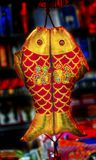 Décorations lunaires Pékin Chine de nouvelle année de doubles poissons chinois rouges Image libre de droits