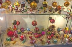 Décorations modernes d'arbre de Noël Image stock