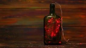 Décorations pendant la nouvelle année Guirlande avec les lumières clignotantes à l'intérieur de la bouteille Solutions créatrices clips vidéos