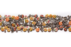 Décorations pour les vêtements - beaux boutons pour des vêtements de haute couture photographie stock