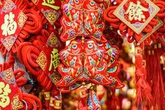 Décorations rouges chinoises de poissons Images stock