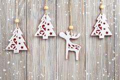 Décorations s'arrêtantes de Noël Photo libre de droits