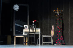 Décorations sur l'étape pour la représentation du flamenco Flamenqueria de Chambre Photo stock
