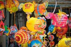 Décorations traditionnelles de couleur dans le festival de mi-automne de l'Asie photo libre de droits