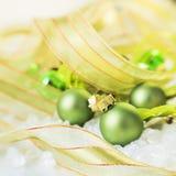 Décorations vertes de Noël Images stock