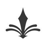 décorez l'icône fleurie de style illustration stock