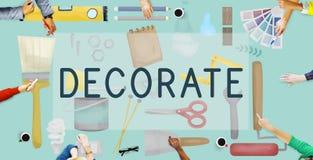 Décorez le concept moderne créatif contemporain lumineux illustration de vecteur