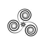 décorez le style fleuri de remous illustration libre de droits