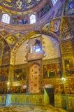 Décors dans l'église de Bethlehem d'Arménien à Isphahan, Iran Photos libres de droits
