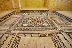 Décors de fort de Qaitbay, l'Alexandrie, Egypte image stock