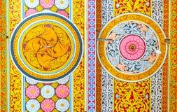 Décors de temple d'Isurumuniya Images libres de droits