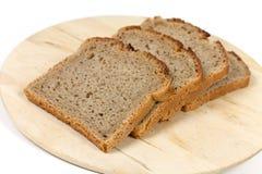 Découpé en tranches frais, part de pain-pain Photo stock