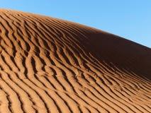 Découpé sur le sable de désert Images libres de droits