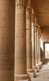 Découpage égyptien sur le fléau dans le temple de Philae Photo stock