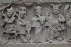 Découpage antique de Chinois Image libre de droits