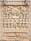 Découpage bouddhiste de pierre Image libre de droits