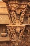 Découpage décoratif des temples Jain, Jaisalmer, Inde Images libres de droits