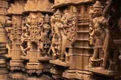 Découpage décoratif des temples Jain, Jaisalmer, Inde Image stock