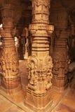 Découpage décoratif des temples Jain, Jaisalmer, Inde Image libre de droits