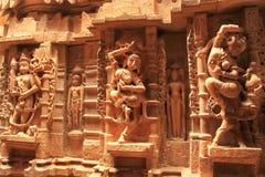 Découpage décoratif des temples Jain, Jaisalmer, Inde Photographie stock