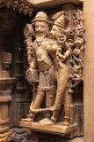 Découpage décoratif des temples Jain, Jaisalmer, Inde Images stock