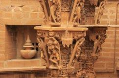 Découpage décoratif des temples Jain, Jaisalmer, Inde Photo libre de droits