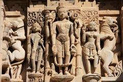 Découpage décoratif, temple de Jagdish, Udaipur, Inde photos libres de droits