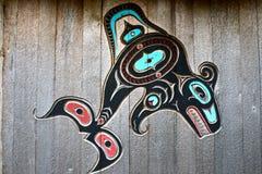 Découpage d'indigènes de l'Alaska Photographie stock libre de droits