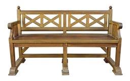 Découpage de banc en bois Images libres de droits