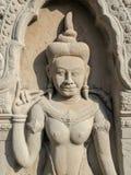 Découpage de Bouddha, temples d'angkor Image stock