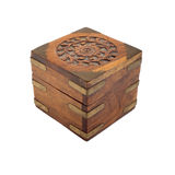 Découpage de cadre en bois Photographie stock