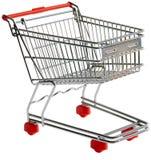 Découpage de chariot à achats Images libres de droits