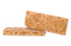 Découpage de deux bars de granola image libre de droits