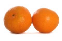 Découpage de deux mandarines Image libre de droits