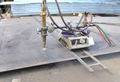 Découpage de gaz de feuillard Photo stock