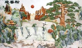 Découpage de jade d'aspiration de mur de soulagement Images libres de droits