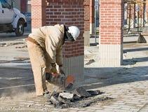 Découpage de l'asphalte Photo libre de droits