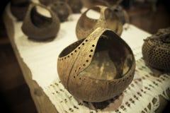 Découpage de noix de coco Image libre de droits