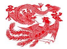 Découpage de papier chinois illustration de vecteur
