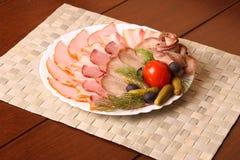 Découpage de viande Photo stock