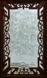 Découpage des châssis de fenêtre en bois Photos stock