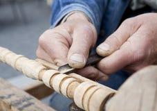 Découpage du bois Photo stock