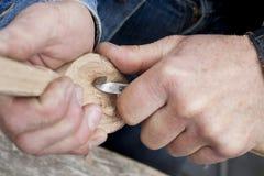 Découpage du bois Images libres de droits