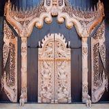Découpage du bois de type thaï Photo stock